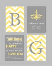 yellow and gray bathroom home decor prints you are my chandelier chevron monogram