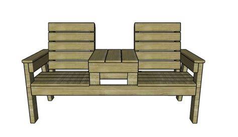 double chair bench  table plans myoutdoorplans