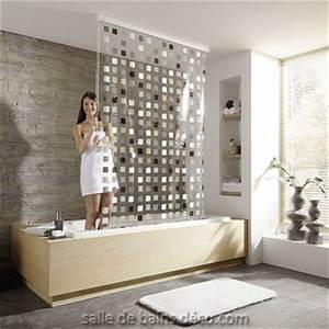 rideau de baignoire store douche mosaique gris With porte d entrée pvc avec robinet salle de bain pour vasque a poser