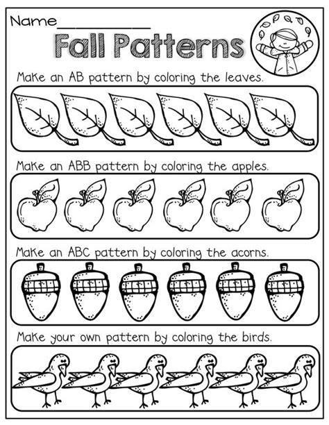 Color To Make A Fall Pattern!  Kinderland Collaborative  Pinterest  Preschool Math, Classroom