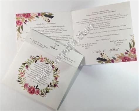 undangan nikah motif bunga amplop tali kejoramedia sc  kejora media