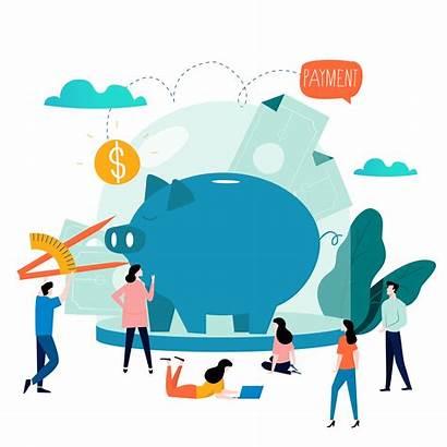 Budget Vector Planning Services Money Flat Finance