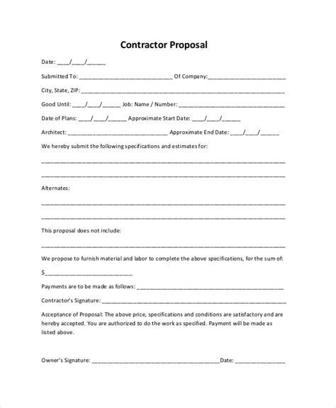 sle rfp template bid form 28 images free sle construction template for doc pdf 10 sle construction