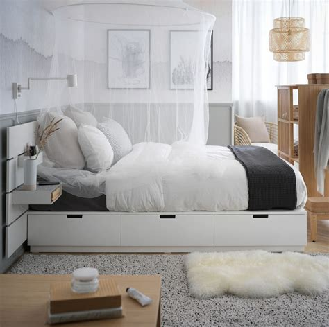 ikea storage beds  solve   small