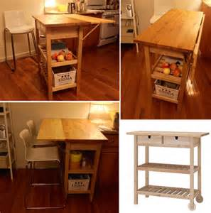 narrow kitchen island table 10 best ikea hacks for a small apartment kitchen jewelpie