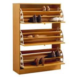 shoe storage unit wooden three drawer shoe storage cabinet rack holder 2198
