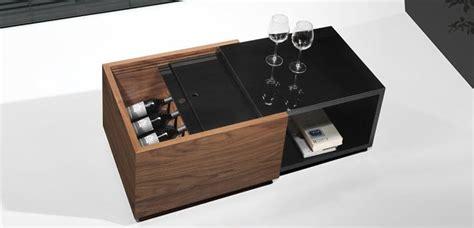 table basse avec rangement bouteille setecnologia