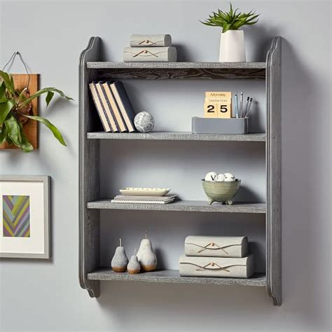 Beadboard Wall Bookcase Pbteen