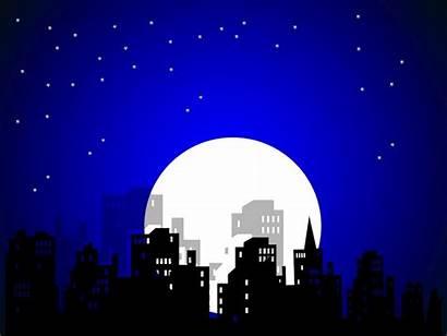 Vector Night Clipart Comic Cartoon Scenery Sky