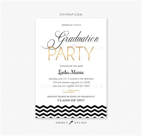 Graduation Party Invitations Printed Printable Summer Etsy
