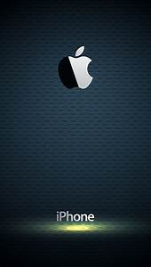 Glossy Apple Logo with Blue Background Wallpaper - Free ...
