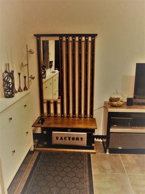 meuble industriel banc dentree vestiaire porte