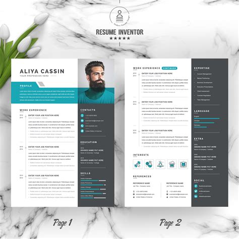 A modern cv format that is optimized for your unique situation. Aliya Resume Template Resume Template 97961   Zign Templates