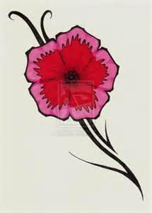 Simple Tribal Flower Tattoo Designs