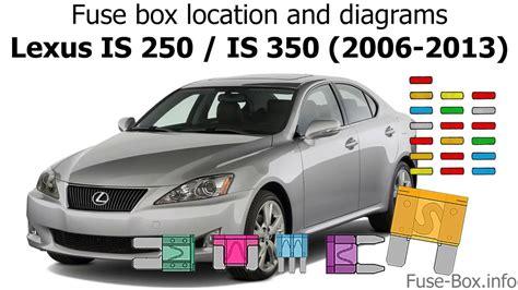 Fuse Box Location Diagrams Lexus