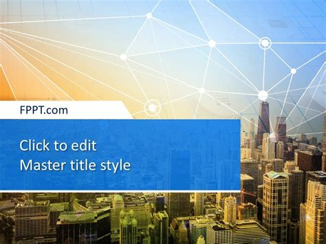 smart city powerpoint template  powerpoint