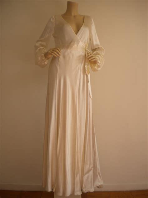 Victoria Secret Silk Bridal Long Gown Sexy Maxi Dress S Ebay