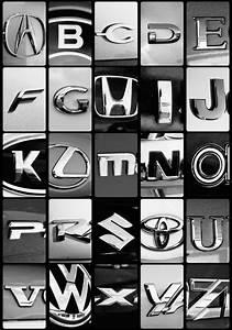 car logo style illustrations letters pinterest With car letter emblems