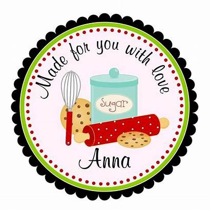 Labels Kitchen Baking Clip Stickers Cookie Cooking