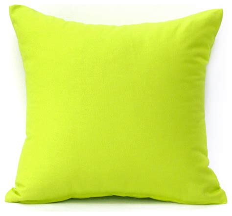 lime green throw pillows solid lime green accent throw pillow cover modern