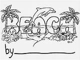 Beach Cartoon Number Boardwalk Coloring Template Personalization sketch template