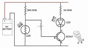 How To Make Ldr Darkness Sensor Circuit Simple Diy  7 Steps