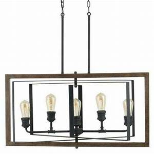 Black Chandeliers Hanging Lights The Home Depot