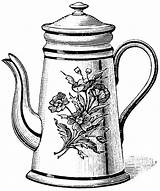 Teapot Tea Coloring Drawing Kettle Printable Pot Clipart Drawings Cliparts Cup Pots Sketch Clip Draw Coloringhome Adult Template Library Sketches sketch template
