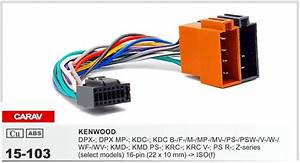 Carav 15 103 Car Iso Harness Head Cable For Kenwood Dpx