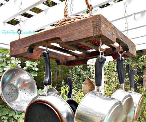 hanging pallet rail pot rack industrial pot