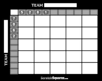 super bowl  square pool scratch  cards