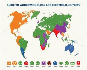 World Map Of Plugs And Electrical Outlets