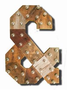reclaimed wood marquee letters w lights shabby chic With reclaimed barn wood letters