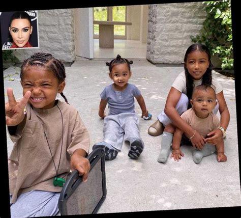 Kim Kardashian Shares Sweet Photo of Her 4 Children All ...