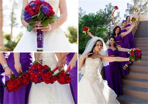 purple  red masquerade wedding canyon gate country