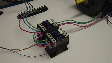 reversing contactors dissected  explained youtube