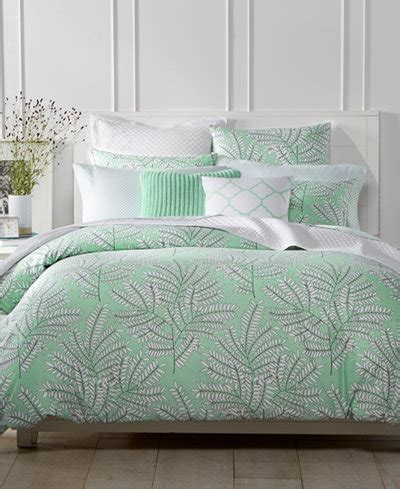 charter club damask designs fern mint bedding collection