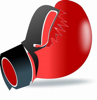 Boxing Gloves Glove Vector Punching Clip Animated