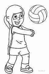 Volleyball Coloring Pages Sports Printable Cool2bkids Clipart Colouring Pallavolo Children Players Quotes Print Drawing Sayings Clip sketch template