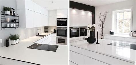 cocinas elegantes en blanco  negro