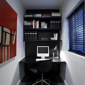 Small home office idea for a small apartment freshomecom for Designing a small office space