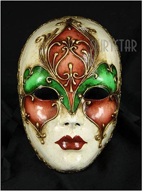 mask face amazon venetian italian masks pink masquerade multi venice painting carnival italy wall hand clothing decor costume