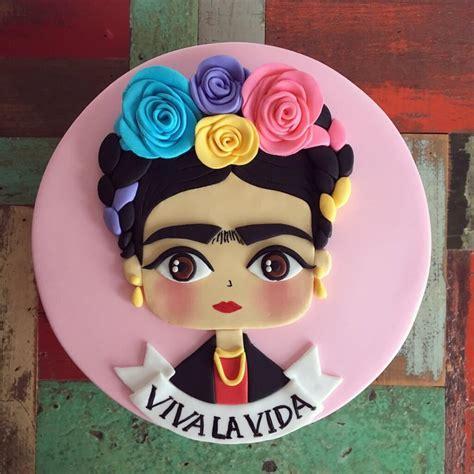 torta frida kahlo rosa valcakes reposteria