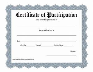 Certificate Of Participation Template Free New Certificate Of Participation Templates Certificate Templates