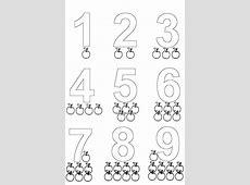 Baú da Web Desenhos de Números para Colorir