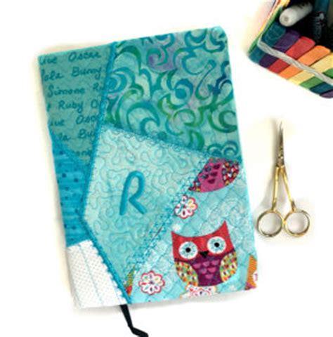 hoop crazy patch notebook cover applique machine