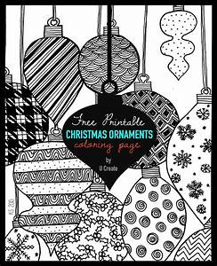 free christmas coloring book pages - christmas ornaments adult coloring page u create