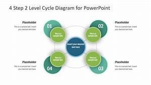 4 Steps Powerpoint Circular Diagram
