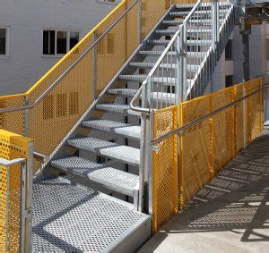 architectural perforated metal staircase marco specialty