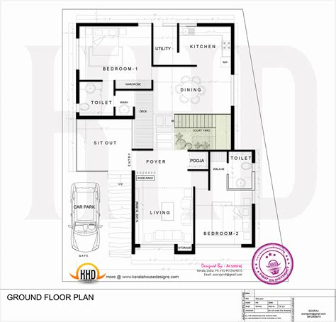 architecture home plans contemporary residence design kerala home design and